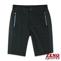 ZENO 機能快乾四面彈銀色織線短褲‧青黑