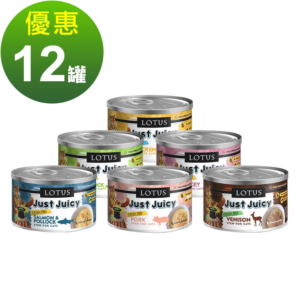 LOTUS樂特斯 慢燉嫩絲主食罐全系列 全貓配方 70G-12件組