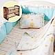 奇哥 比得兔中床+快樂森林六層紗寢具組-M product thumbnail 1