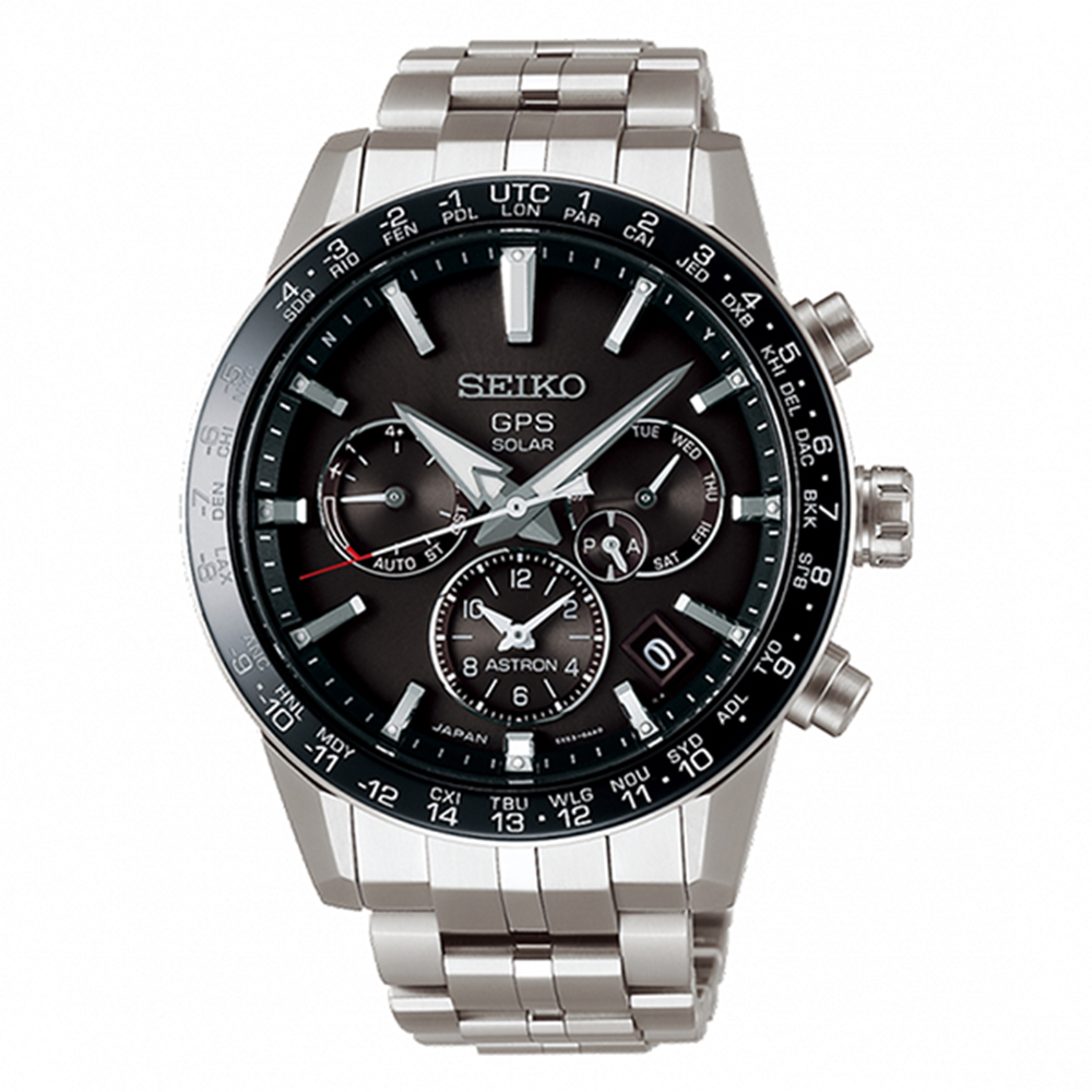 SEIKO 精工ASTRON GPS霸天雙時區鈦金屬太陽能腕錶SSH003J1 @ Y!購物