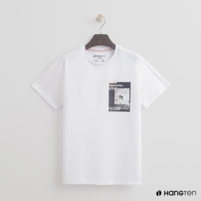 Hang Ten-青少童裝-休閒版型T恤-白