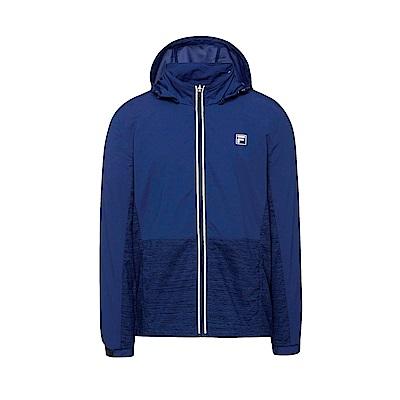 FILA 男款抗UV風衣外套-藍紫 1JKT-1311-DB