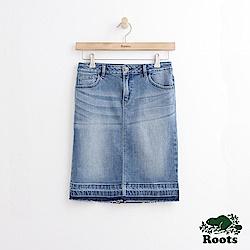 Roots -女裝- DENIM - 中腰牛仔裙 - 藍