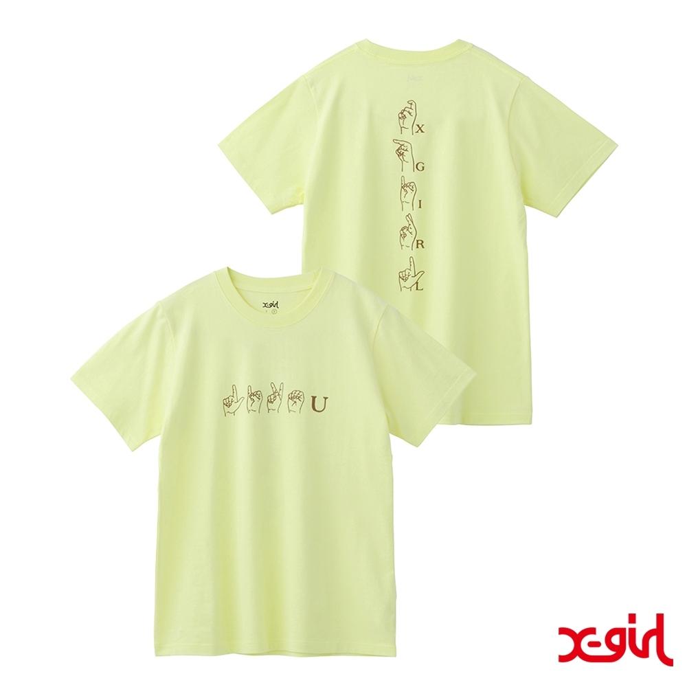 X-girl LIKE YOU S/S REGULAR TEE短袖T恤-黃