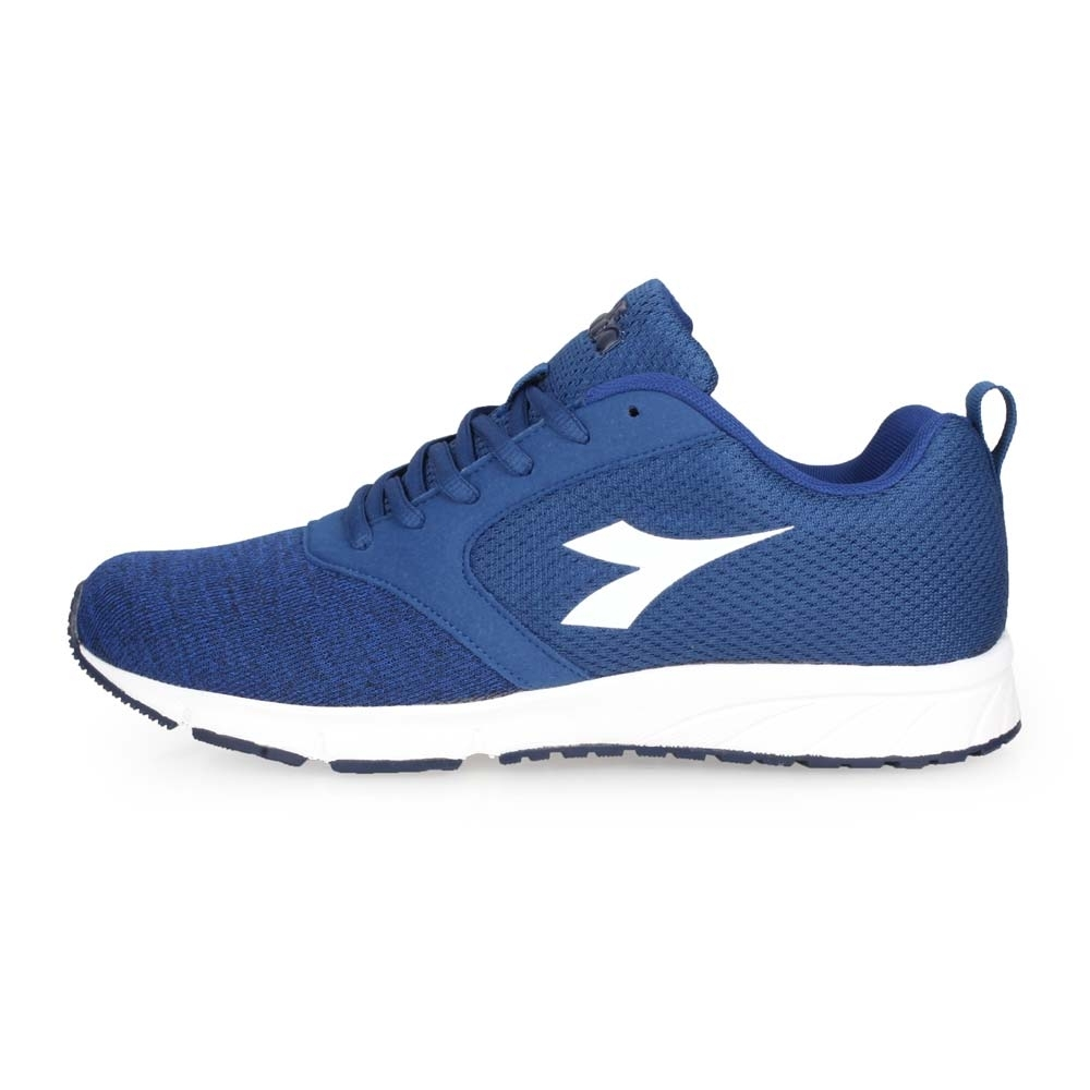DIADORA 男慢跑鞋-寬楦 路跑 深藍白