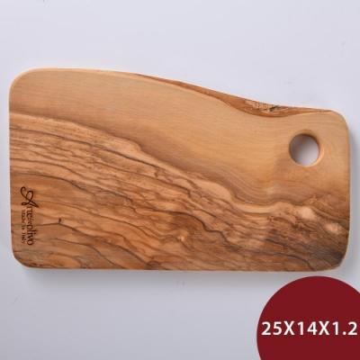 義大利Arte in olivo 橄欖木Rustic盛菜盤 25x14x1.2cm
