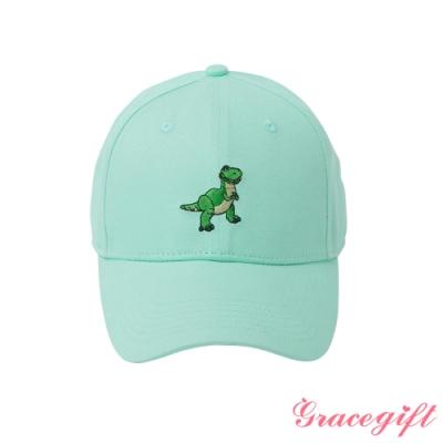 Disney collection by gracegift-迪士尼抱抱龍電繡棒球帽 淺綠