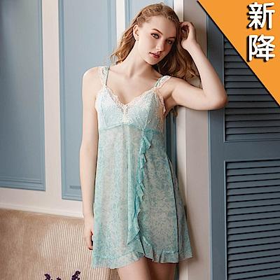 華歌爾睡衣-性感 M-L 細帶裙裝(湖水綠)性感系列