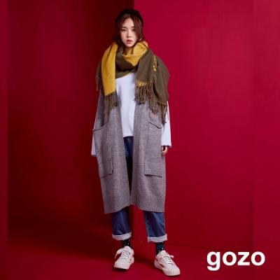 gozo 立體圈圈混羊毛針織背心外套(二色)