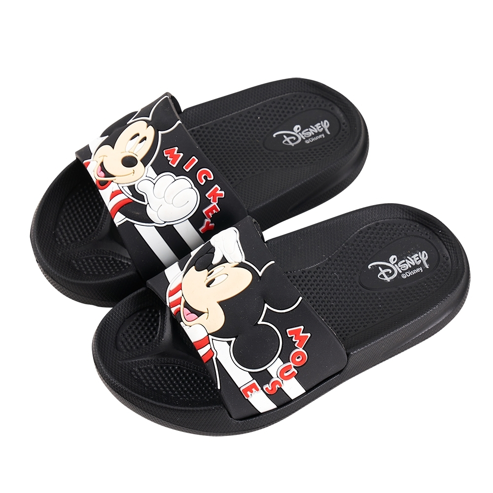 迪士尼童鞋 米奇 立體造型防水拖鞋-黑 (柏睿鞋業)