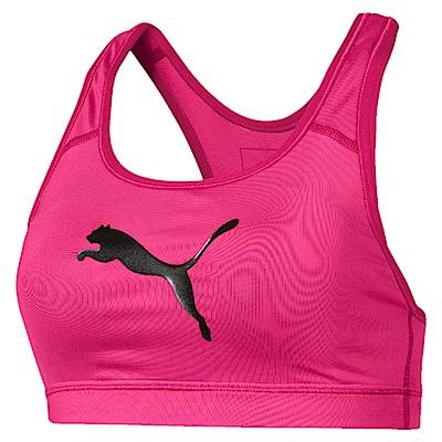 PUMA-女性訓練系列跳豹中衝擊運動內衣-洋桃紅-歐規