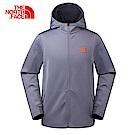 The North Face北面男款灰色吸濕排汗連帽外套 3GJ8V3T