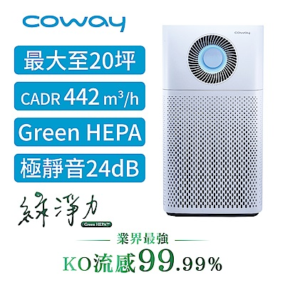 Coway 20坪 綠淨力噴射循環空氣清淨機 AP-1516D 送sunbeam保暖墊