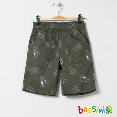 bossini男童-印花輕便短褲04灰