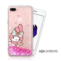 My Melody iPhone 7/8 Plus 亮片流沙手機軟殼 - 愛心世界