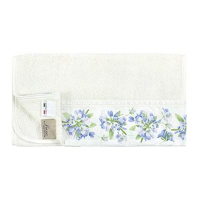 日本丸真 義大利製頂級純棉厚磅飯店毛巾-歐風典雅藍