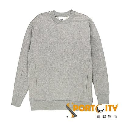 ADIDAS  男 圓領套頭衫 灰-BQ3079