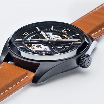 HAMILTON 卡其鏤空野戰機械錶(H72585535)42mm