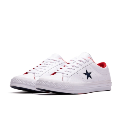 CONVERSE ONE STAR OX-白 男女休閒鞋