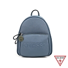 GUESS-女包-經典logo浮水印花後背包-藍