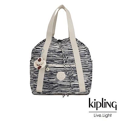 Kipling 線條塗鴉紋兩用側背後背包-ART BACKPACK S