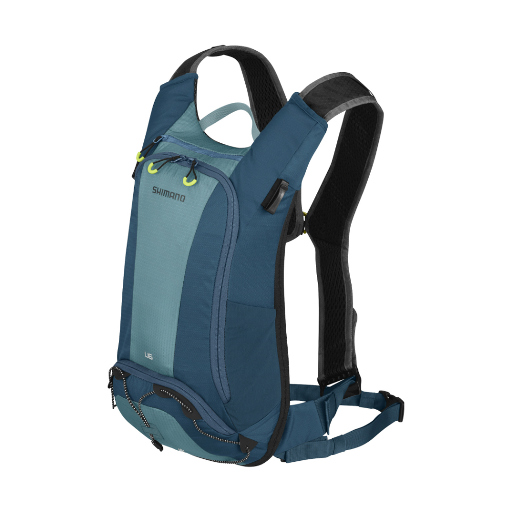 【SHIMANO】UNZEN 6L 自行車背包 (不含水袋) 愛琴海藍