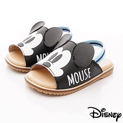 迪士尼童鞋 米奇軟軟拖鞋款 ON18368黑(小童段)