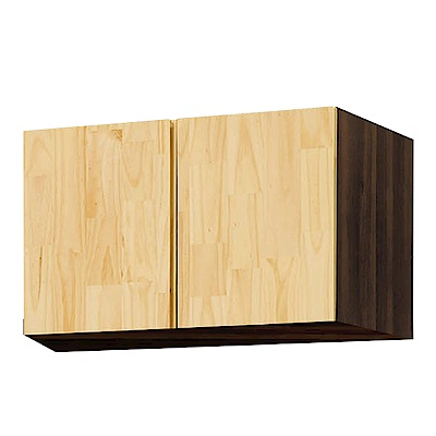 文創集 波麗2.7尺二門置物櫃/收納櫃(內開放層格)-80.6x56.3x54.5cm免組