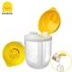 【任選】黃色小鴨《PiyoPiyo》便攜式旋轉三格奶粉罐 product thumbnail 1