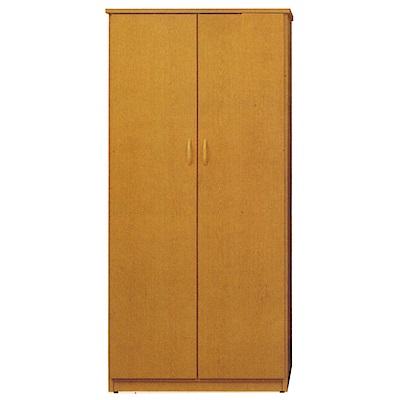 文創集 戴倫環保3尺塑鋼二門單吊衣櫃(二色)-91x52.5x180cm-免組