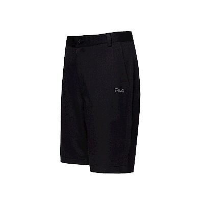 FILA 男款平織短褲-黑色 1SHT-1483-BK