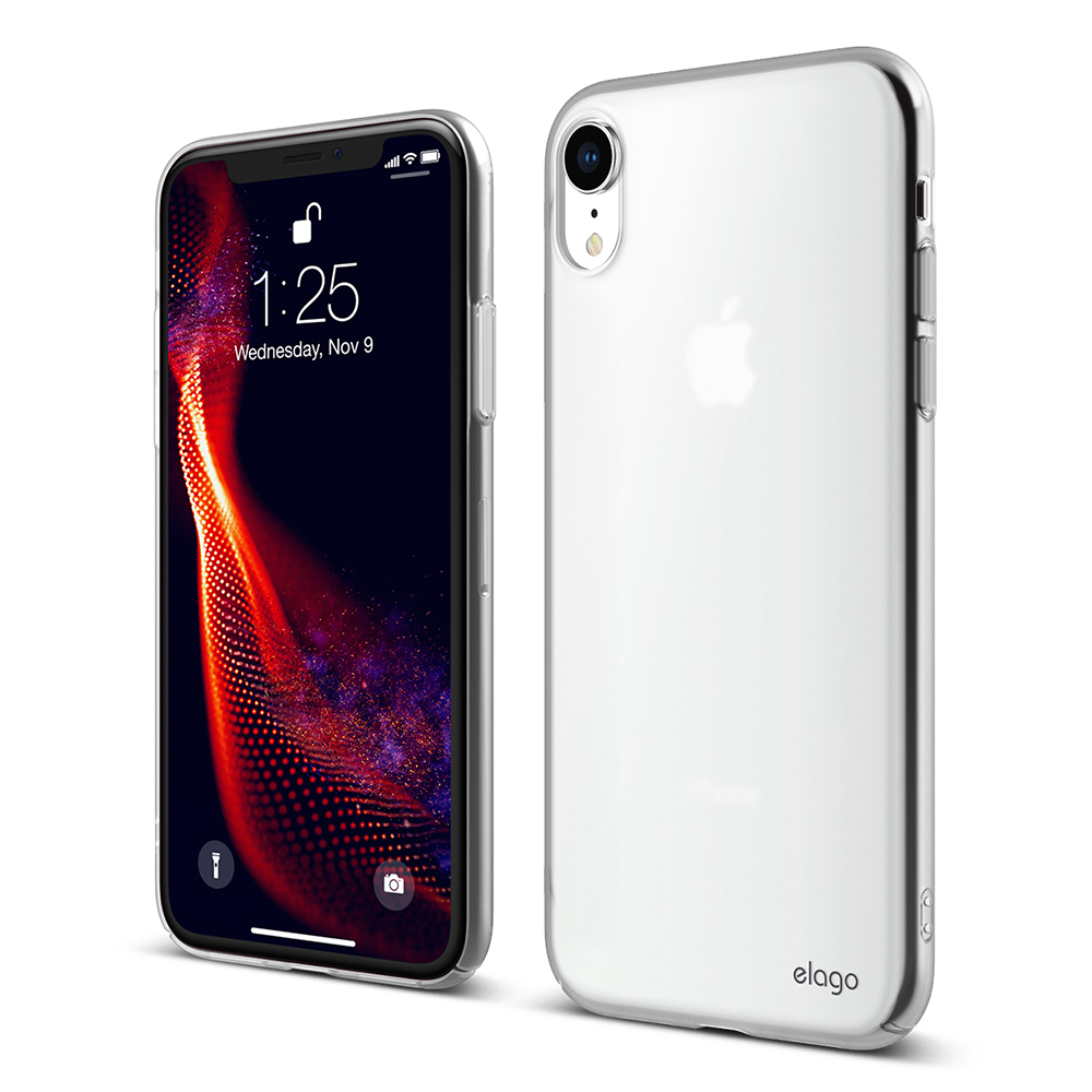 elago iPhone XR 全包覆防摔手機殼 - 內建防護按鍵吊繩孔 - 半透明