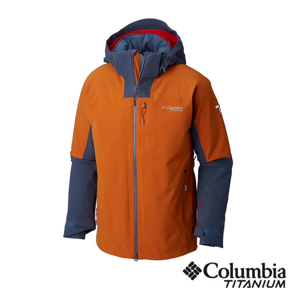 Columbia哥倫比亞 男款-鈦 Omni-Tech防水3D保暖外套-土黃色