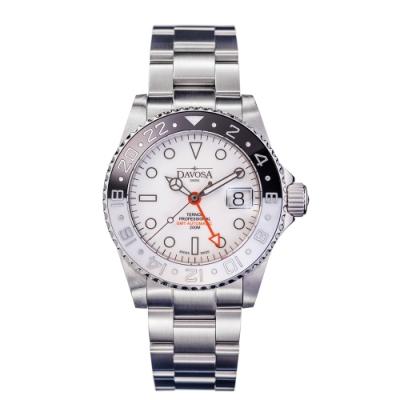DAVOSA Black&White GMT 黑白GMT雙時區200M專業潛水限量套錶