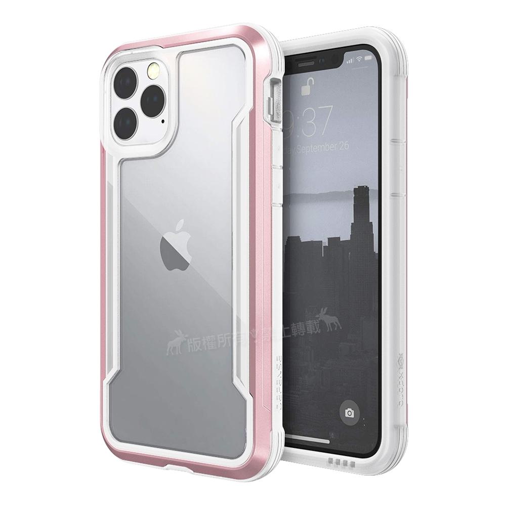 DEFENSE 刀鋒極盾Ⅲ iPhone 11 Pro 5.8吋耐撞擊防摔手機殼(清透粉)