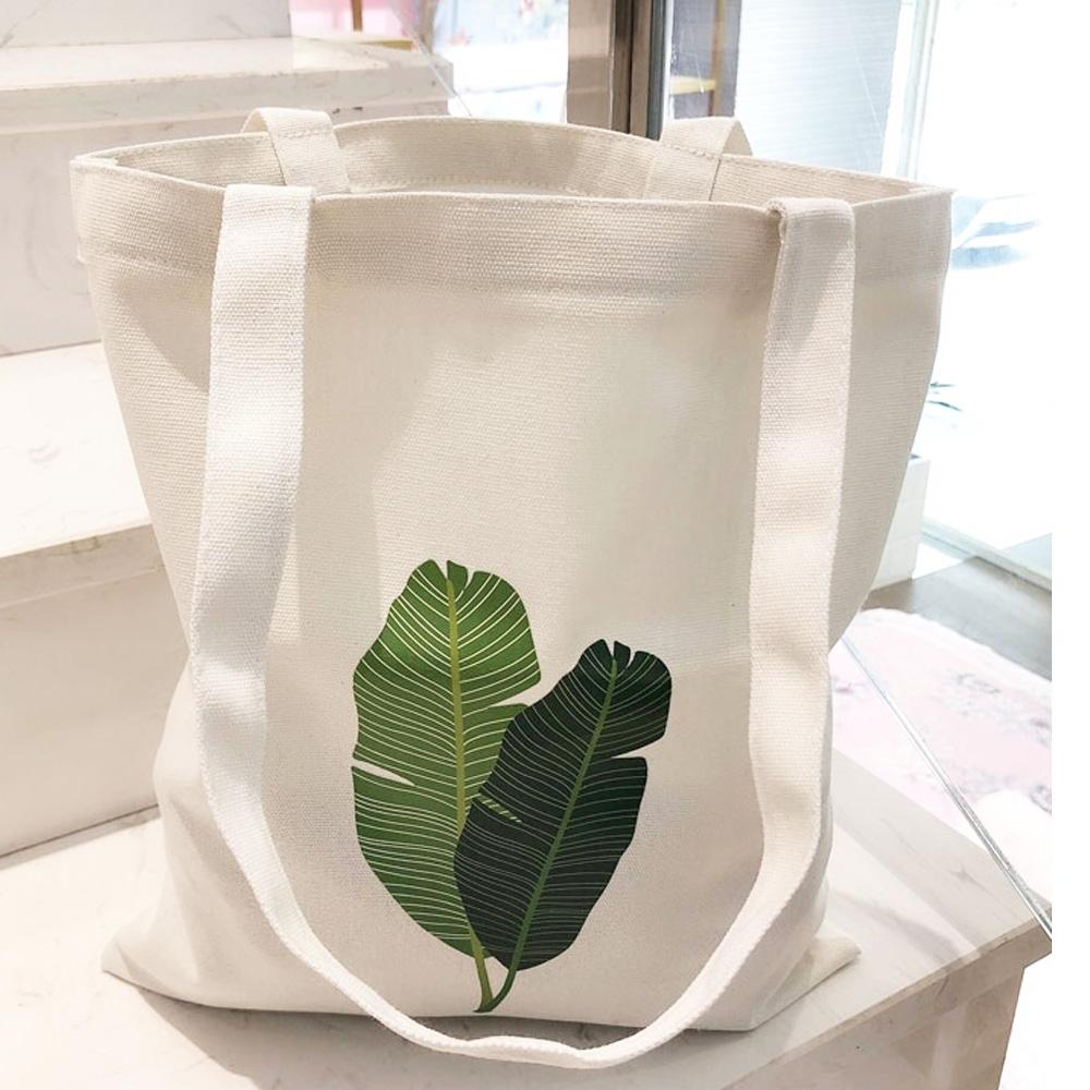 AmaZing 氣質綠芭蕉葉大容量拉鍊側背袋