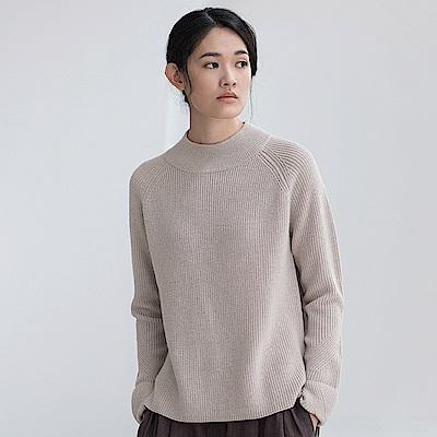 旅途原品_靜言_原創設計百搭基本款套頭毛衣-米灰/黑/深藍