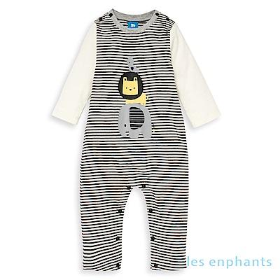 les enphants baby有機動物園疊疊樂連身裝(黑色)