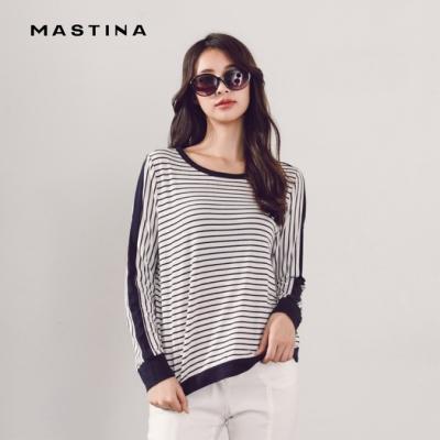 【MASTINA】休閒百搭條紋-上衣(二色)
