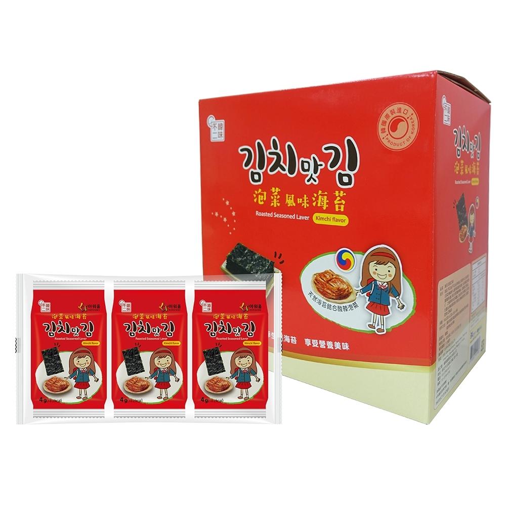 (韓味不二)泡菜口味海苔片禮盒24入組(4g*24入)
