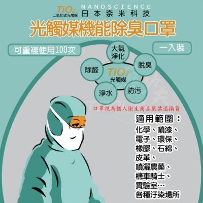 (2入組) 光觸媒機能口罩