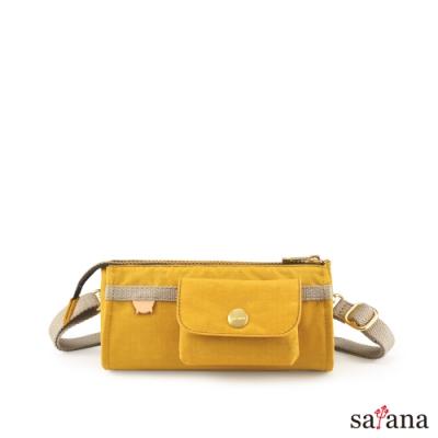 satana - Soldier 美好偏執的多隔層斜肩包 - 古金黃