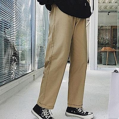 BuyGlasses 日系工作寬鬆九分長褲