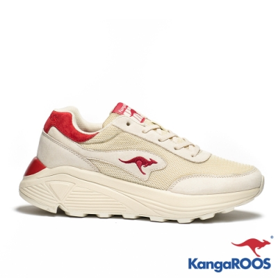 KangaROOS 美國袋鼠鞋 女 BLAZE 都會老爹鞋(米紅)