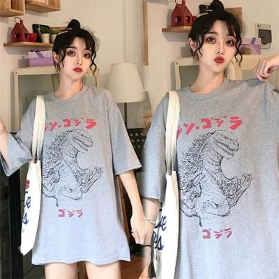 【韓國K.W.】獨家款時尚卡通印花上衣-3色