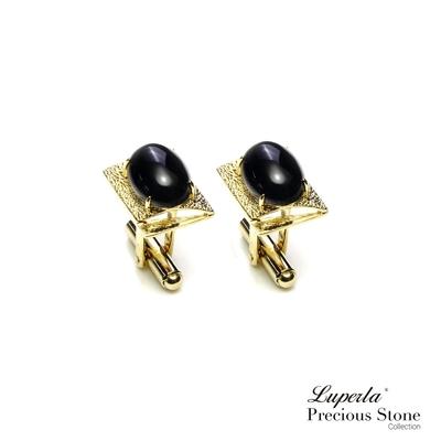 大東山珠寶 質感自信 仕紳系列 黑瑪瑙 西裝領徽 袖扣