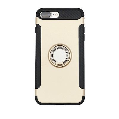 PKG Apple IPhone7/8 Plus抗震指環殼-支援磁吸車架功能-土豪金