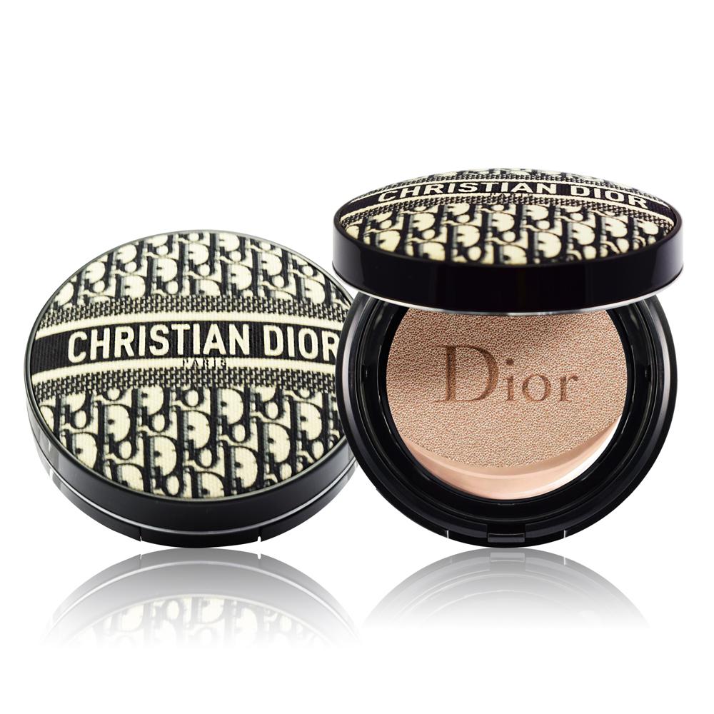 Dior迪奧 超完美柔霧光氣墊粉餅14g 經典緹花版+蘭蔻體驗包x2