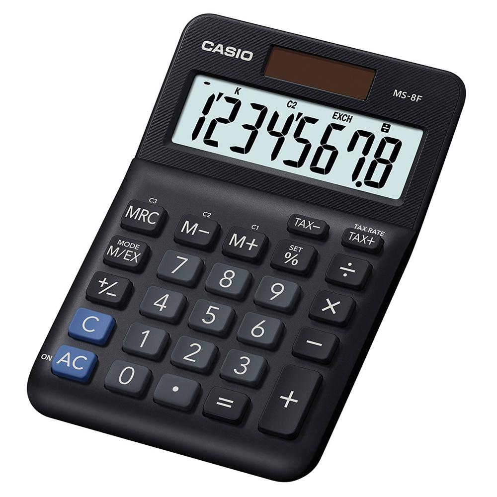 CASIO 8位數桌上小型計算機 (MS-8F)