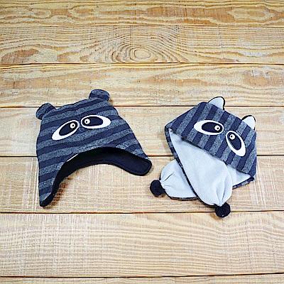 PIPPY 造型禦寒帽子圍巾2件組 藍